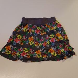 Splendid Juniors Size 10 Gray Floral Skirt